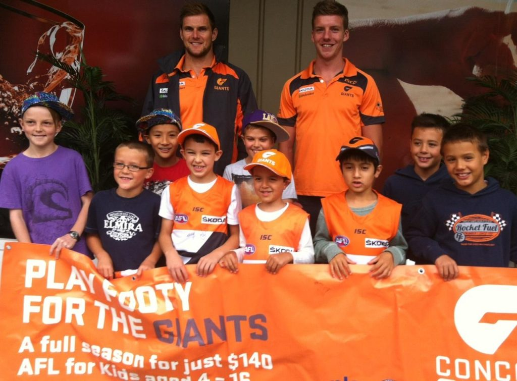 Concord Players with GWS Giants