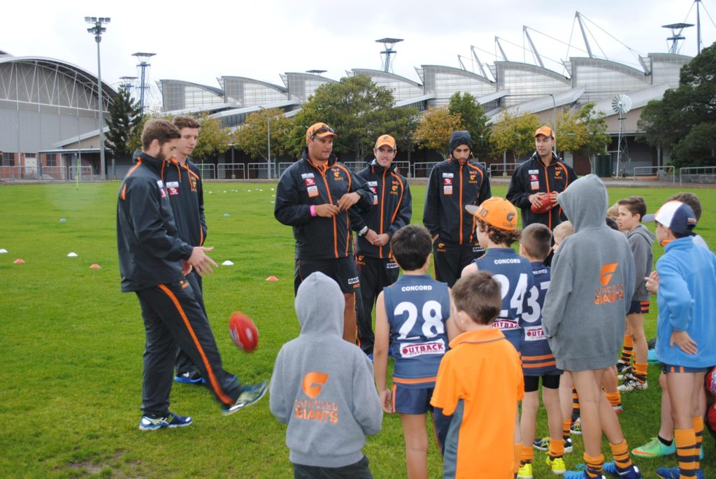 Training session with GWS giants