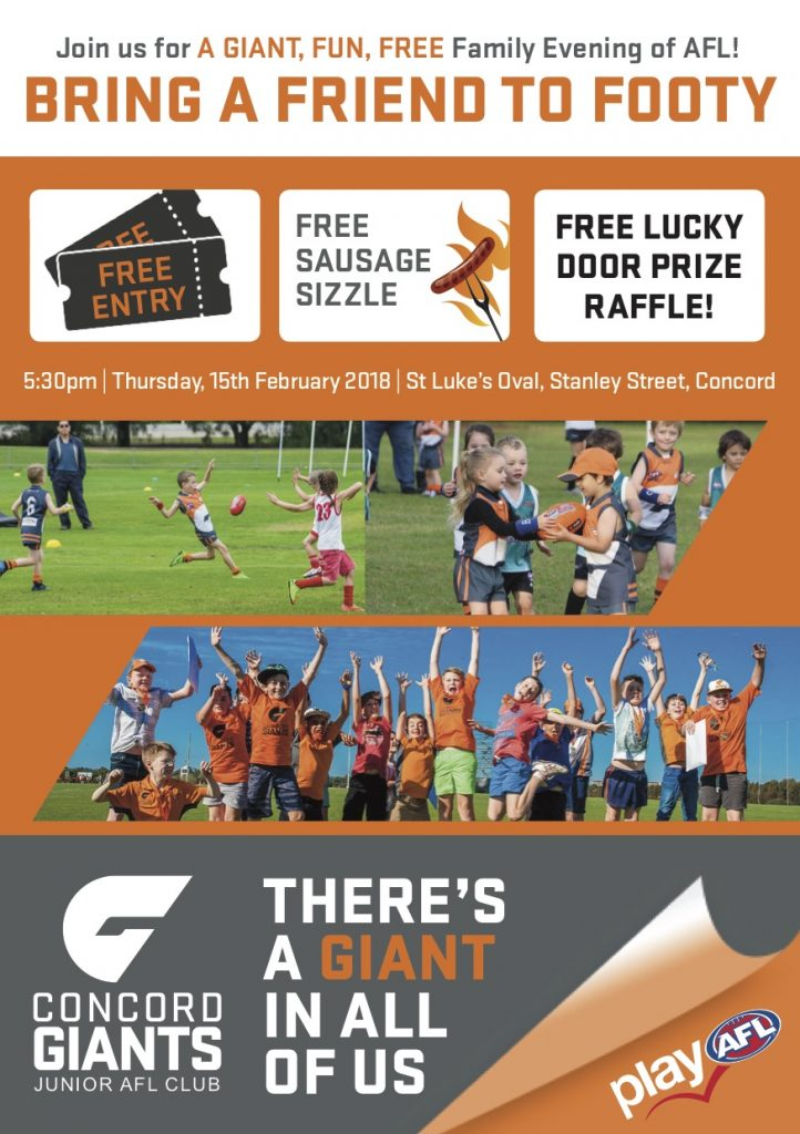 Bring a Friend to Footy flyer
